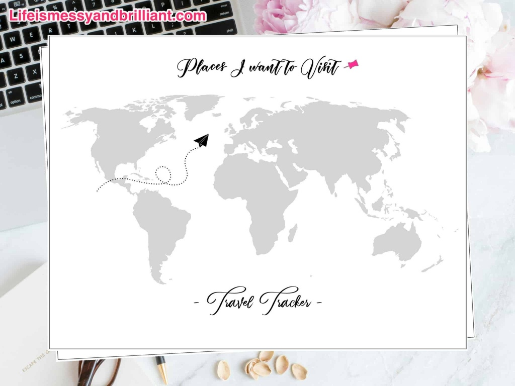 Free Travel Tracker Printable - Free Printable Travel Maps