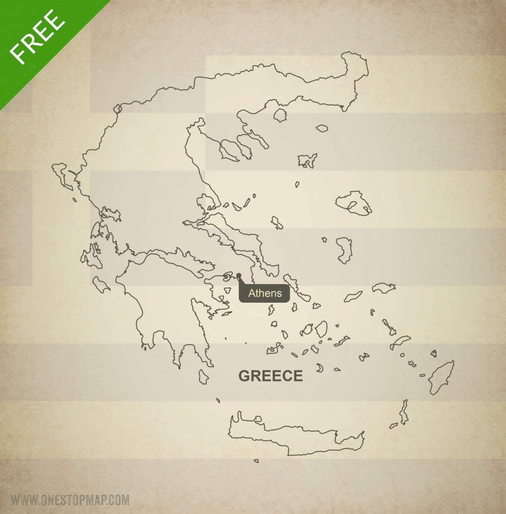 Free Vector Map Of Greece Outline   One Stop Map - Outline Map Of Greece Printable