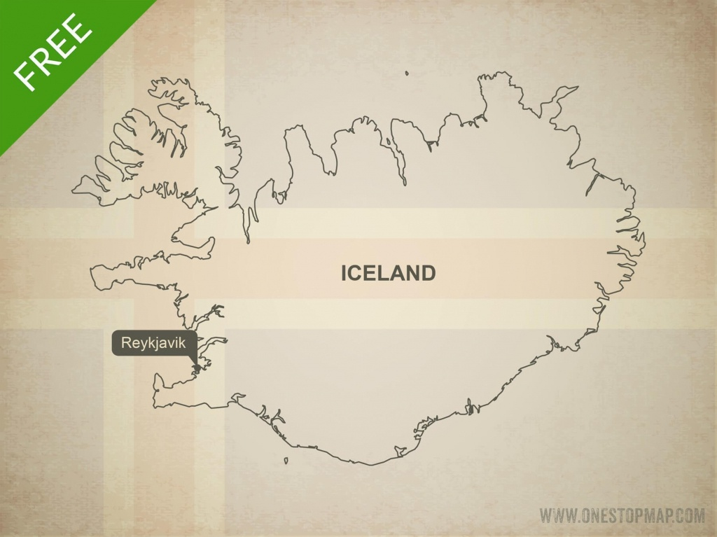 Free Vector Map Of Iceland Outline | One Stop Map - Free Printable Map Of Iceland