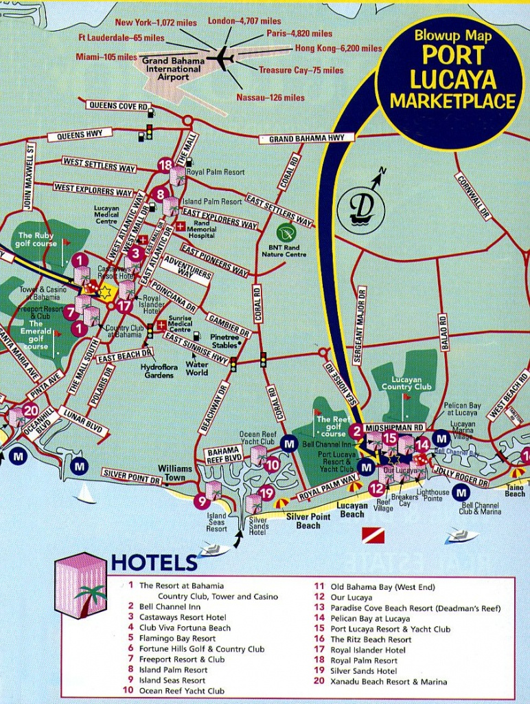 Freeport Tourist Map - Freeport Bahamas • Mappery   Vacation - Map Of Carnival Cruise Ports In Florida