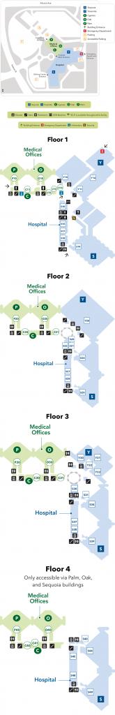Fresno Medical Center - Campus Map - Kaiser Permanente Fresno - Kaiser Permanente Locations In California Map