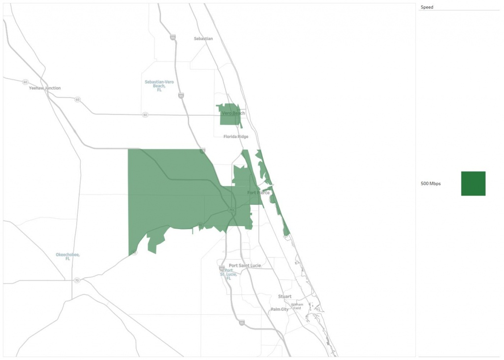Ft. Pierce Utilities Authority Availability Areas & Coverage Map - Where Is Ft Pierce Florida On A Map