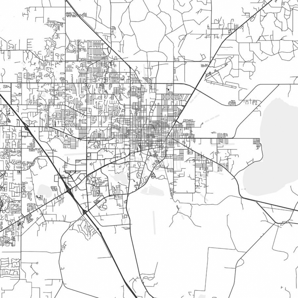 Gainesville, Florida - Area Map - Light | Kathy Prendergast | Area - Map Of Gainesville Florida And Surrounding Cities