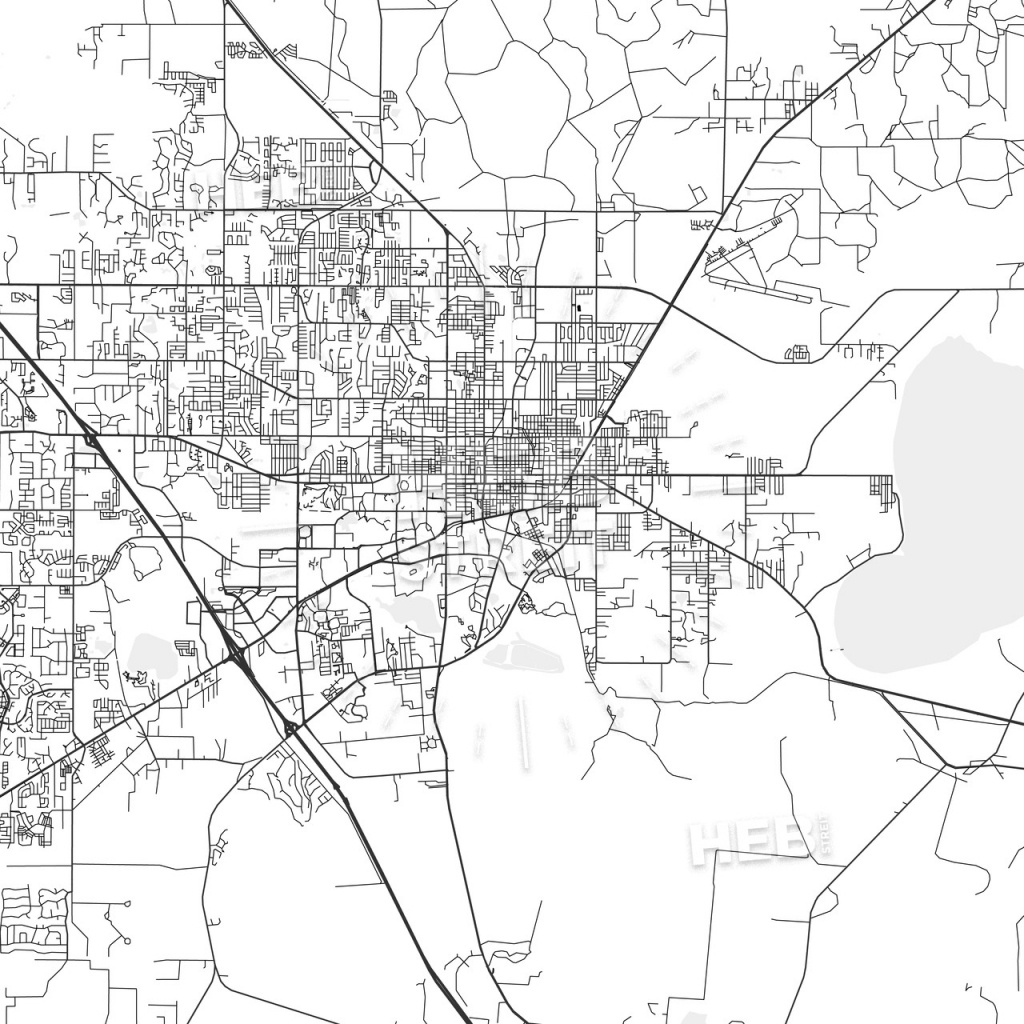 Gainesville, Florida - Area Map - Light - Map Of Gainesville Florida Area