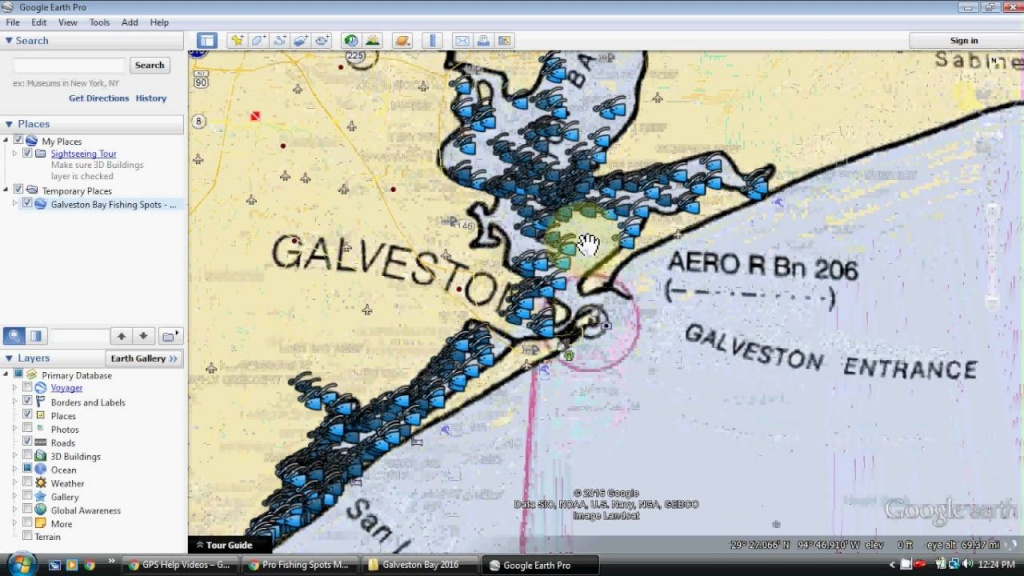 Galveston Bay Fishing Map - Texas Fishing Maps Free