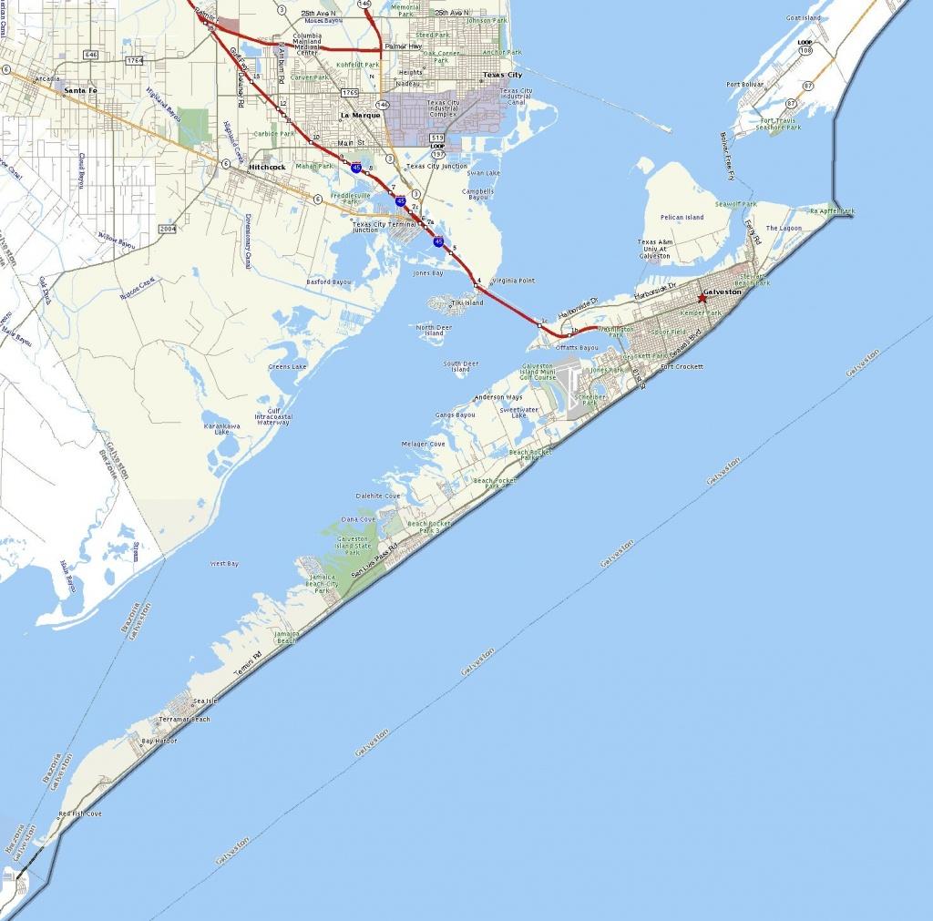 Galveston Island | The Handbook Of Texas Online| Texas State - Texas Galveston Map