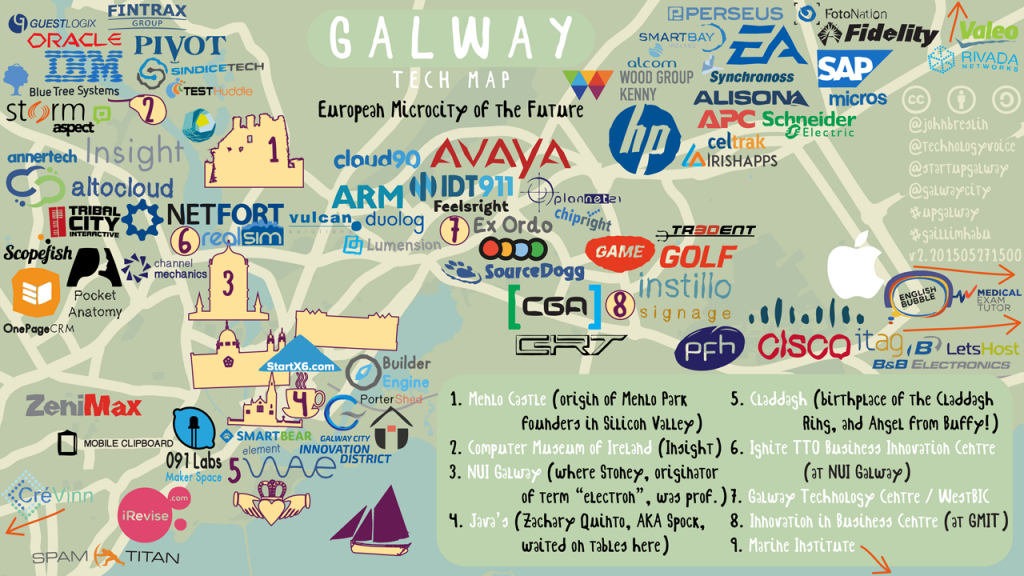 Galway Tech Map: Version 2!   Technology Voice - Galway City Map Printable