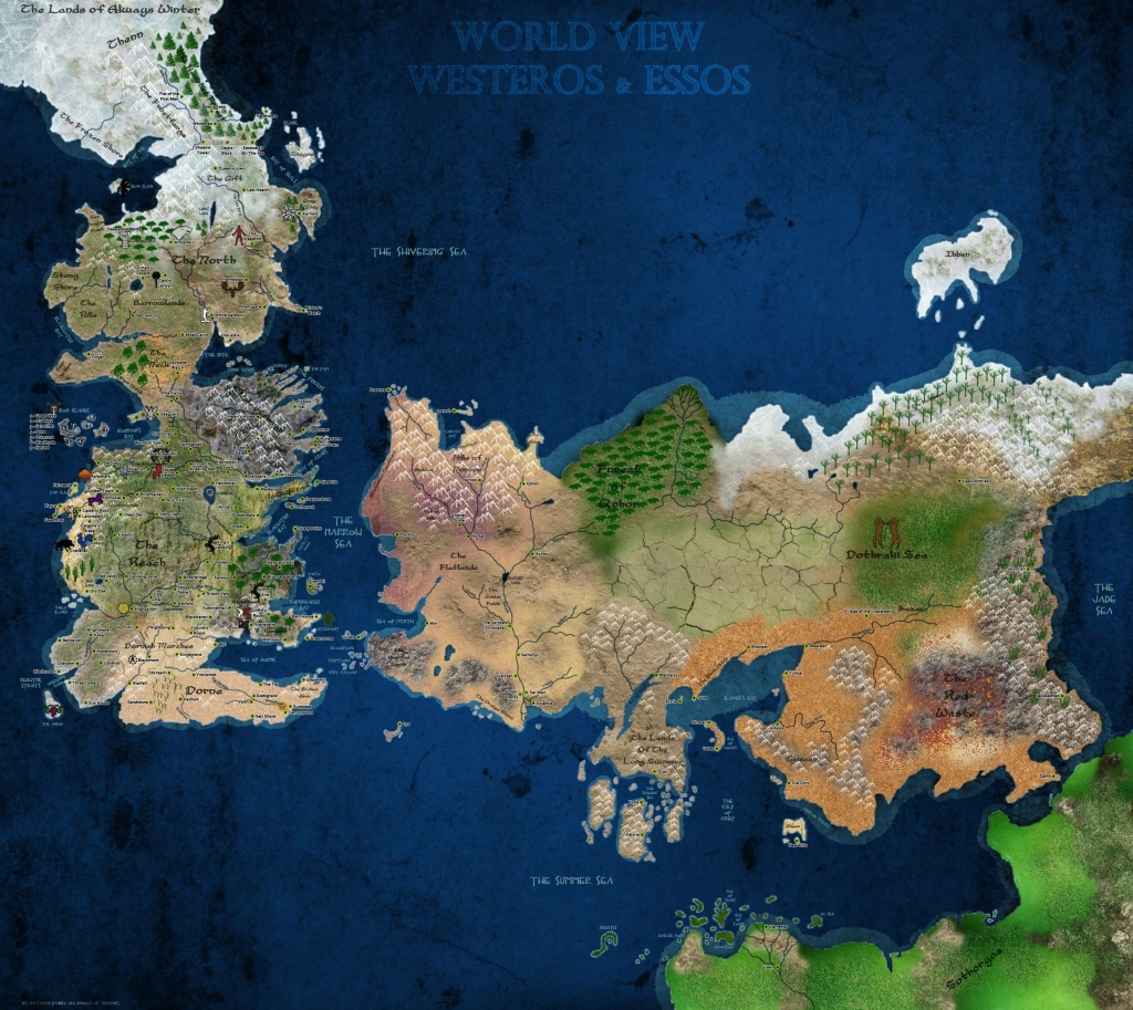 Game Of Thrones World Map - World Wide Maps - Game Of Thrones Printable Map