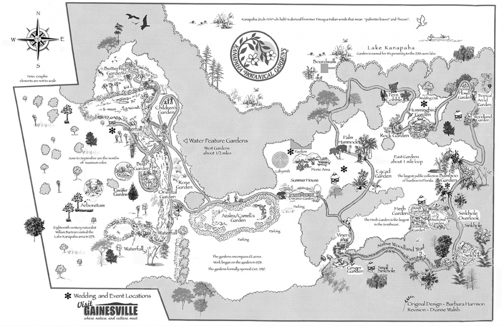 Garden Map   Kanapaha Botanical Gardens - Florida Botanical Gardens Tourist Map