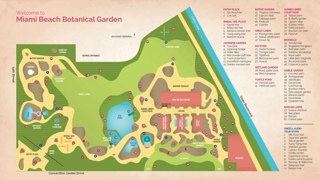Garden Map   Miami Beach Botanical Garden - Florida Botanical Gardens Map