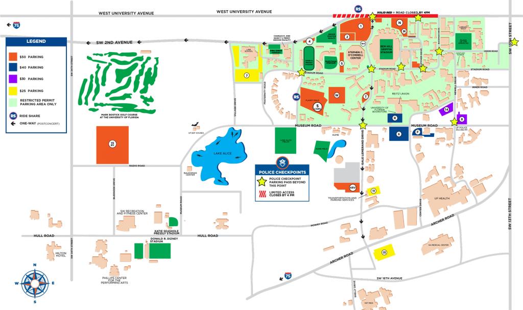 Garth Brooks Stadium Tour - Florida Gators - Map Of Gainesville Florida Area