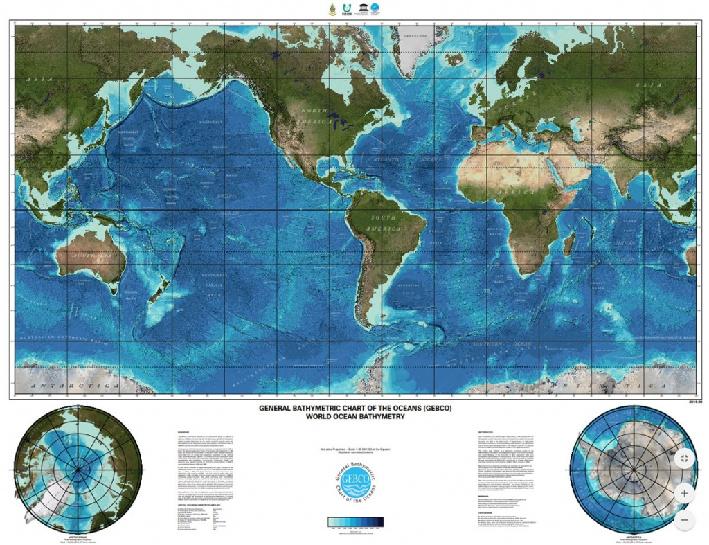 Gebco Printable Maps - World Ocean Map Printable