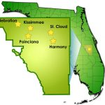 General Information Concerning Osceola County   Map Of Osceola County Florida