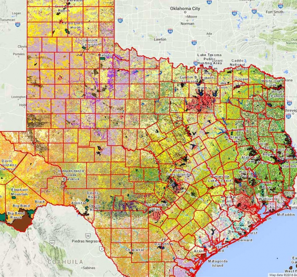 Geographic Information Systems (Gis) - Tpwd - Interactive Elevation Map Of Texas