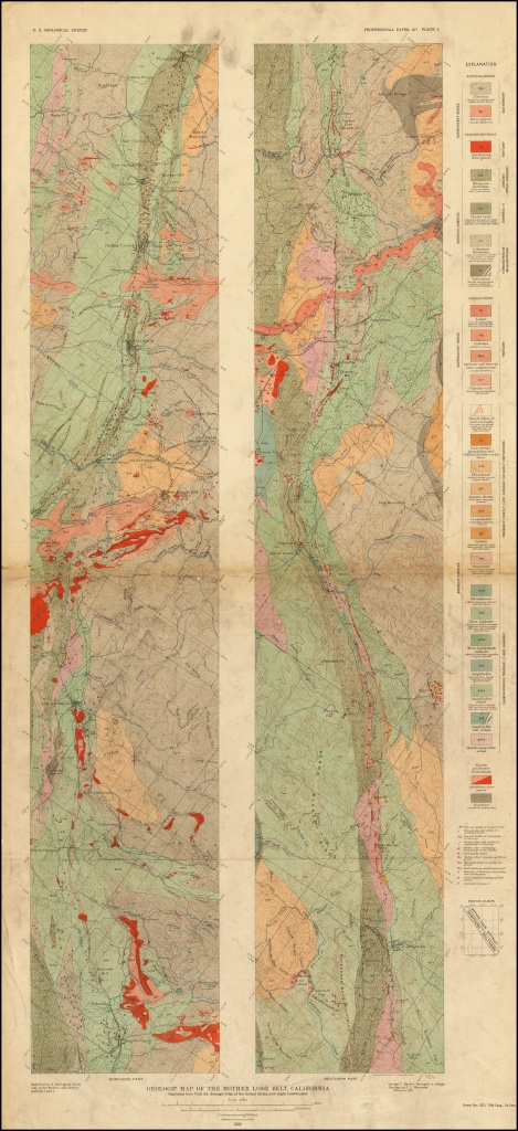 Geological Map Of The Mother Lode Belt, California. . . . - Barry - California Mother Lode Map