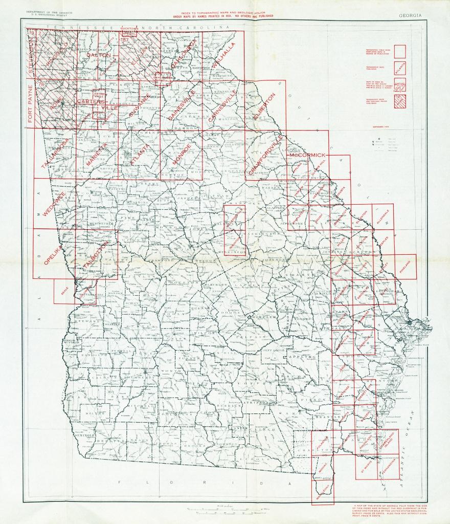 Georgia Historical Topographic Maps - Perry-Castañeda Map Collection - Printable Map Of Columbus Ga