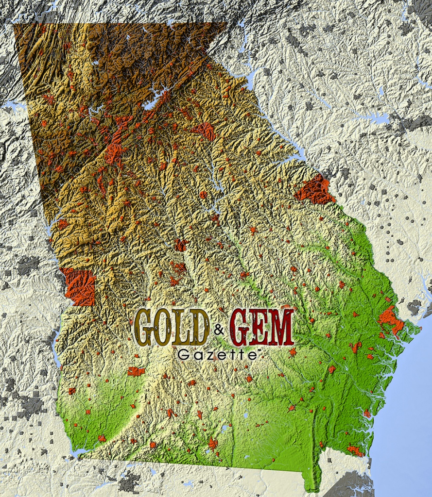 Georgia Prospecting – Gold And Gem Gazette Magazine - Gold Mines In Texas Map