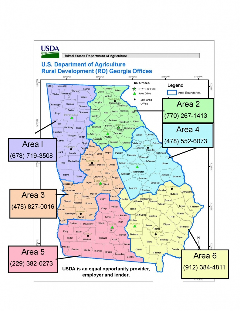 Georgia | Usda Rural Development - Usda Eligibility Map Florida