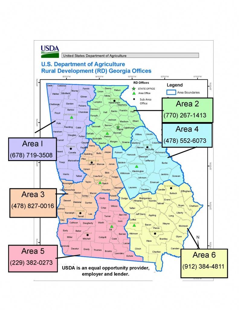 Georgia   Usda Rural Development - Usda Loan Florida Zone Map