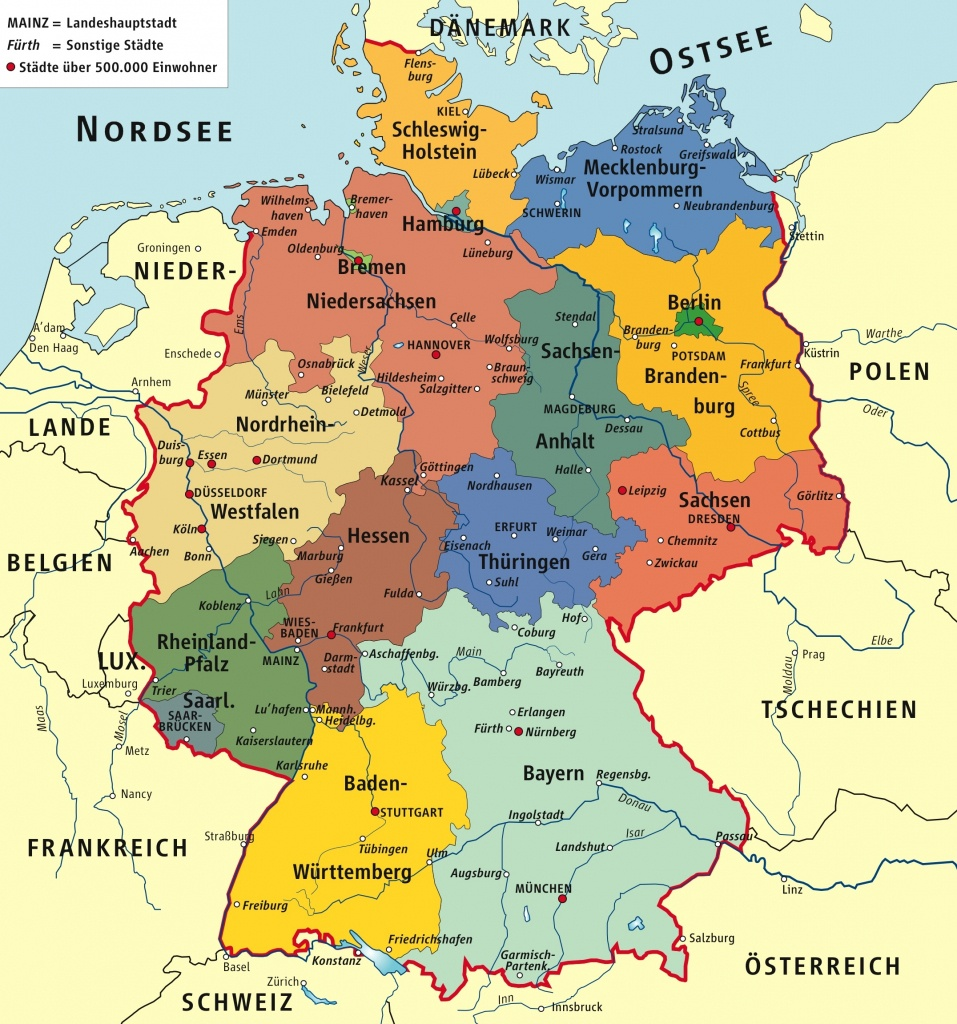 Germany Maps | Maps Of Germany - Free Printable Map Of Germany