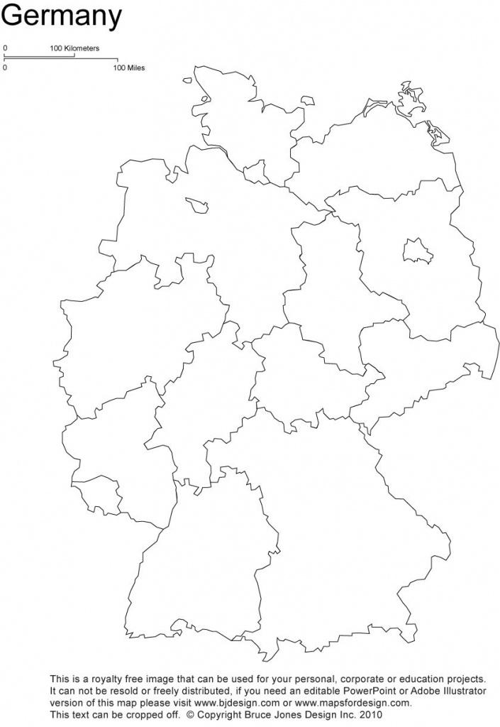 Germany Printable Blank Map, Berlin, Europe, Royalty Free - Free Printable Map Of Germany