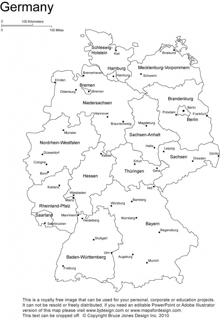 Germany Printable, Blank Map, Bonn, Berlin, Europe, Royalty Free - Free Printable Map Of Germany