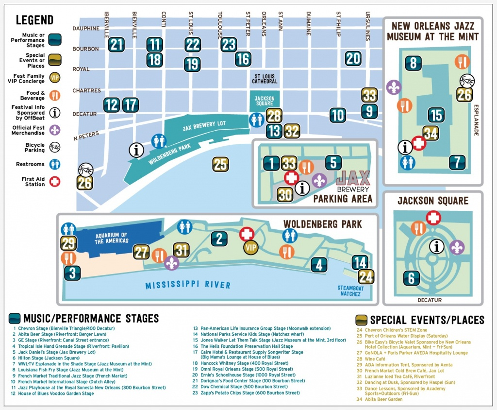 Get Around | French Quarter Fest - Printable French Quarter Map