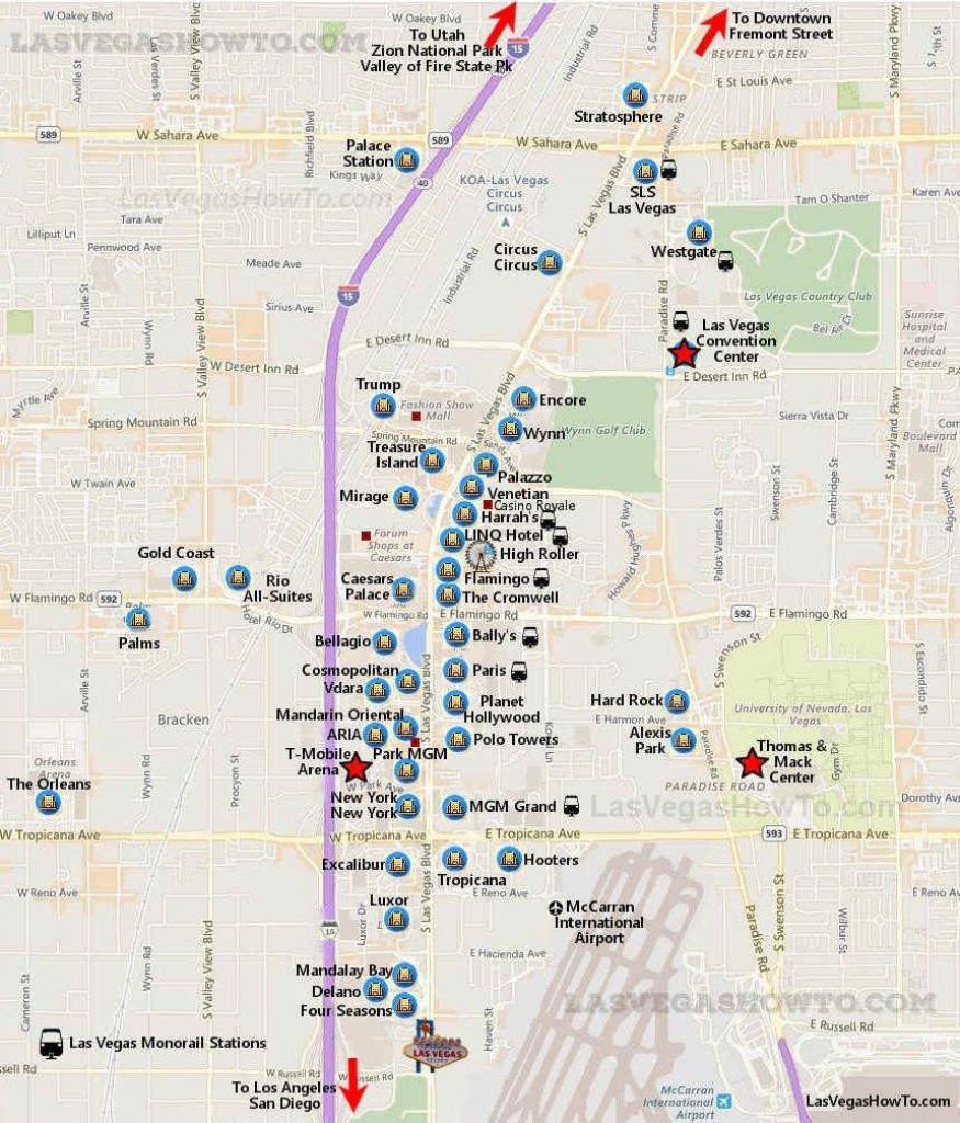 Getting Around Las Vegas In 2019   Vegas   Las Vegas Strip Map - Printable Map Of Las Vegas Strip 2018