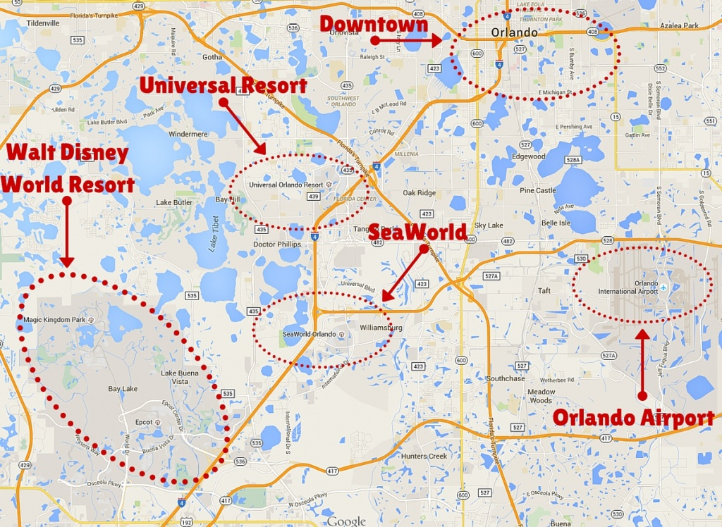 Getting Around The Orlando Theme Parks - The Trusted Traveller - Map Of Theme Parks In Florida