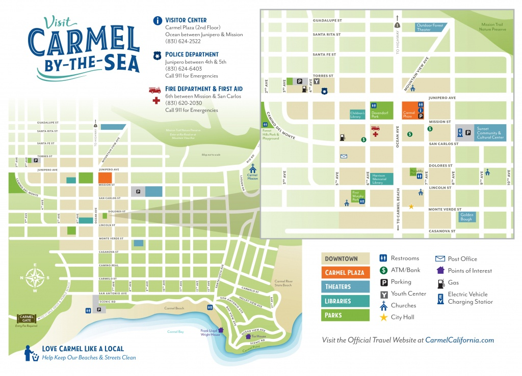 Getting To & Around Carmel-By-The-Sea, California - Carmel California Map