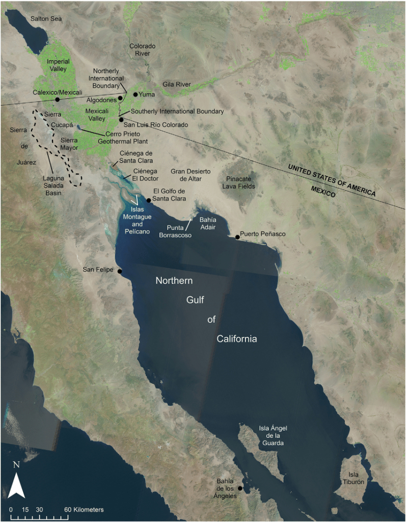 Gis-Based Map Of The Northern Gulf Of California And Colorado River - California Delta Map Download