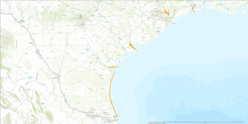Glo Navigation Districts | Tnris - Texas Natural Resources - Texas Navigable Waterways Map