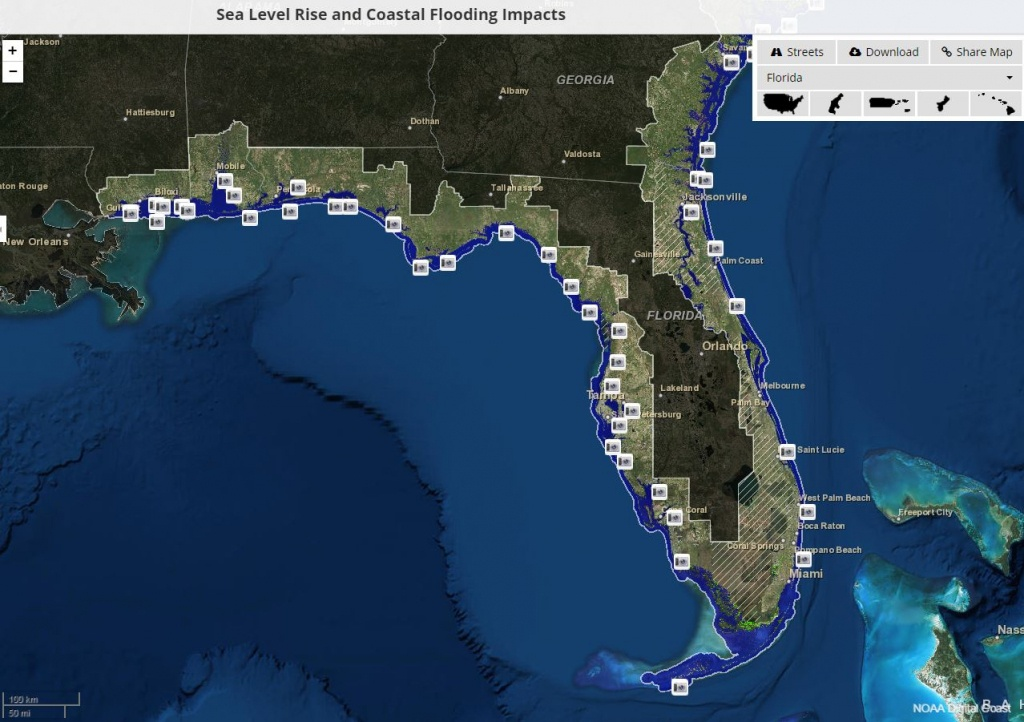 Global Warming Florida Map   Map North East - Florida Map After Global Warming