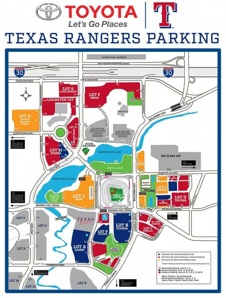 Globe Life Park In Arlington – Where To Park, Eat, And Get Cheap Tickets - Texas Rangers Stadium Parking Map