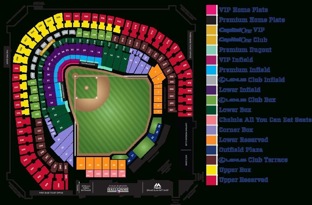 Globe Life Park Seating Map ~ Afp Cv - Texas Rangers Stadium Parking Map