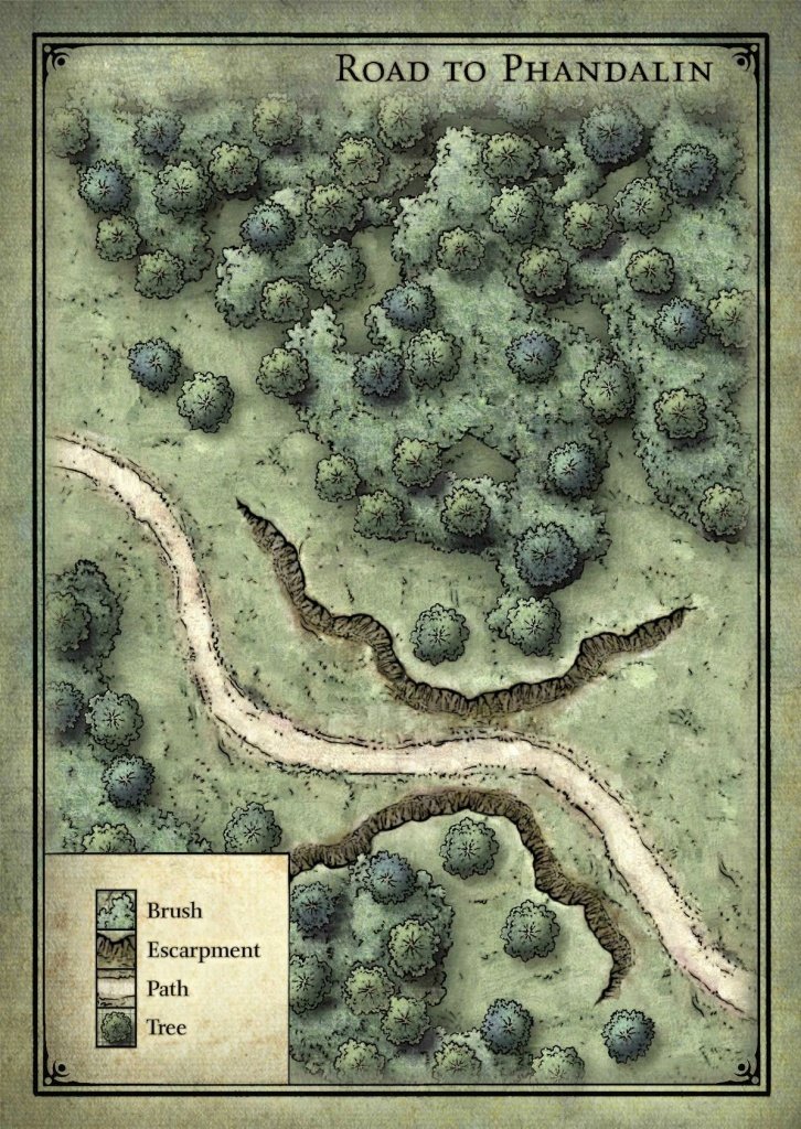 Goblin Ambush Map - Lost Mine Of Phandelver | D&d Maps In 2019 - Lost Mine Of Phandelver Printable Maps