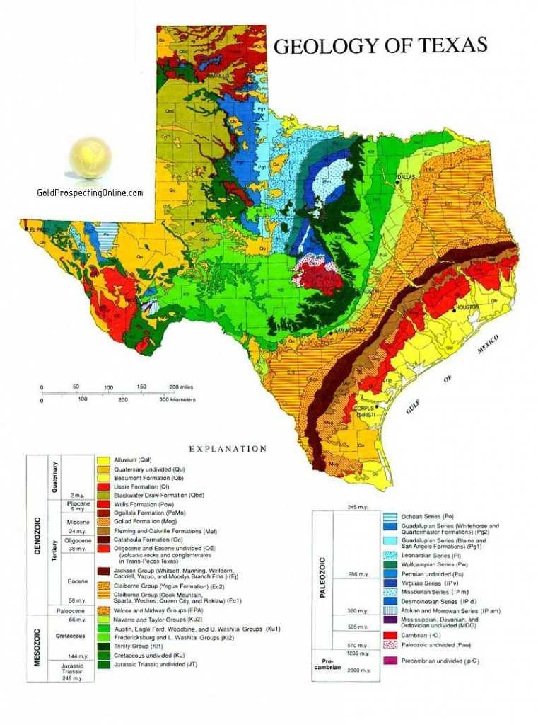 Gold Panning In Texas | L In 2019 | Geology, Texas Gold, Texas - Gold Prospecting In Texas Map