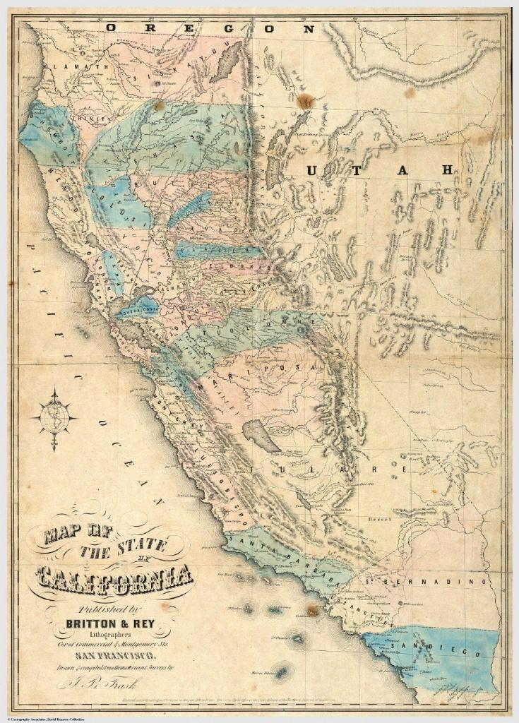 Gold Rush California Map   Sitedesignco - Gold In California Map
