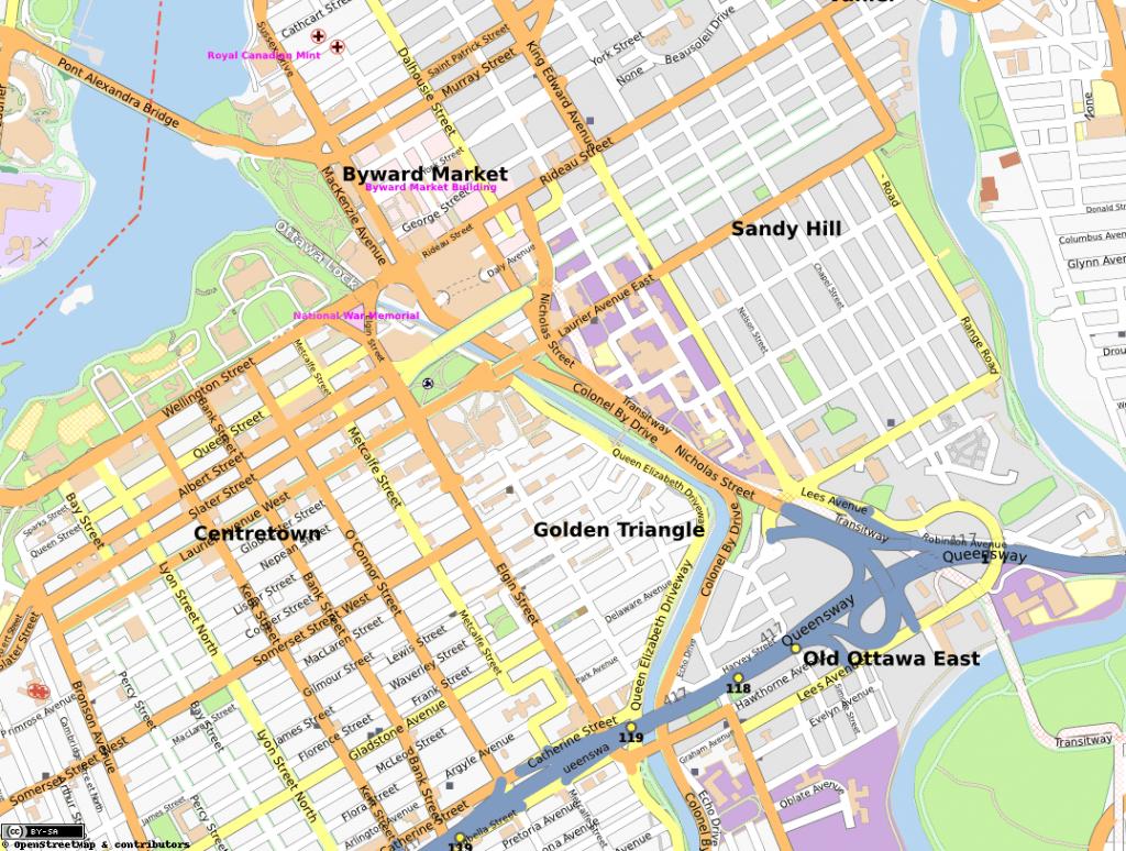 Golden Triangle, Ottawa - Wikipedia - Printable Map Of Ottawa