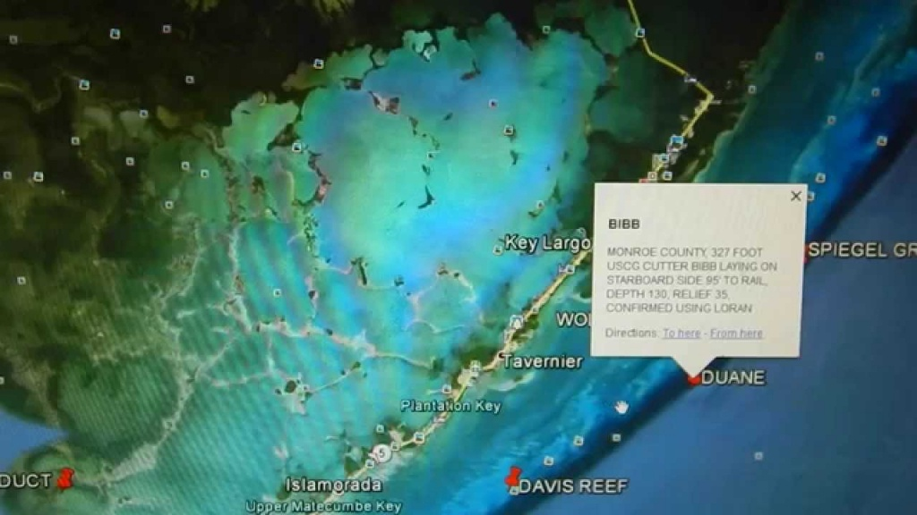 Google Earth Fishing - Florida Keys Reef Overview - Youtube - Florida Fishing Reef Map