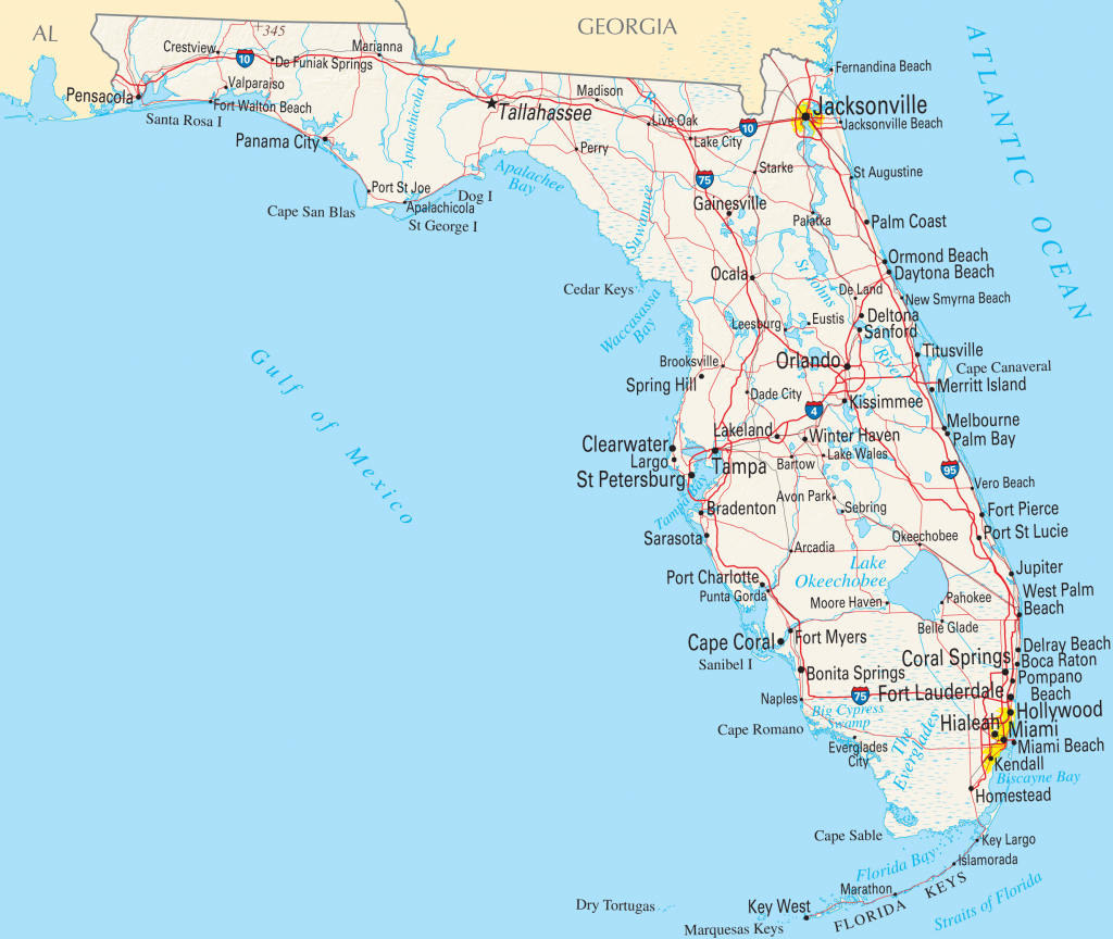 Google Florida Map And Travel Information | Download Free Google - Google Maps Florida Usa