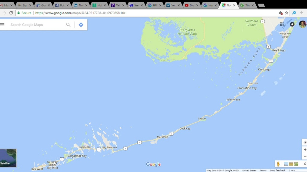 Google Map Of Florida Keys | Download Them And Print - Google Maps Florida Keys