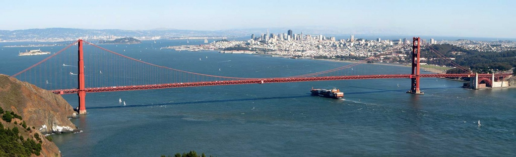 Google Map Of San Francisco, California, Usa - Nations Online Project - A Map Of San Francisco California