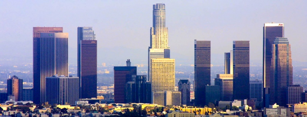 Google Map Of The City Los Angeles, Usa - Nations Online Project - Map Of Los Angeles California Area