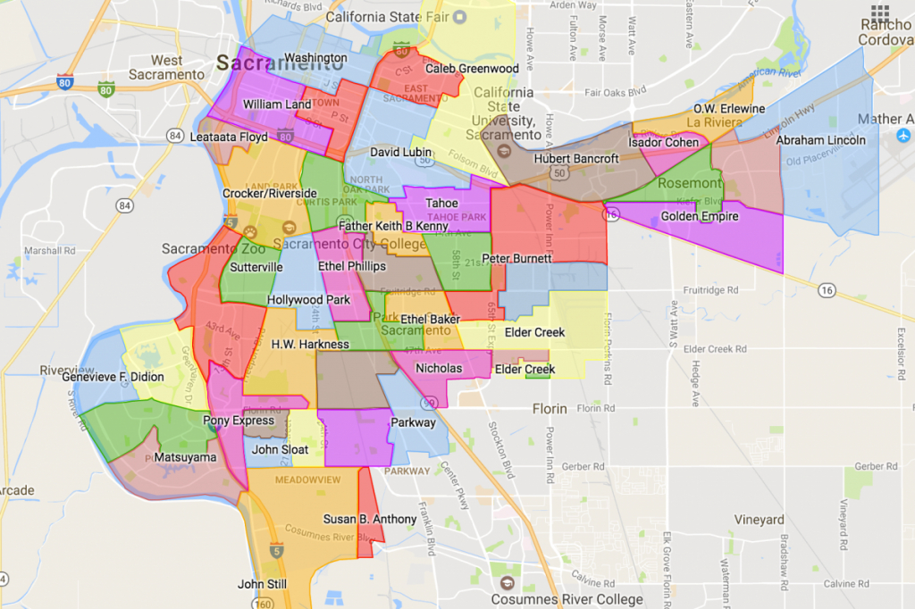 Google Maps California Cities And Travel Information | Download Free - Google Maps Sacramento California