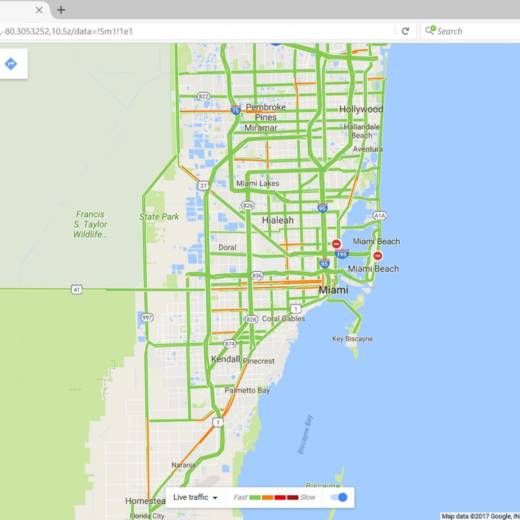 Google Maps Will Mark Closed Roads Live As Hurricane Irma Hits - Google Maps Coral Gables Florida