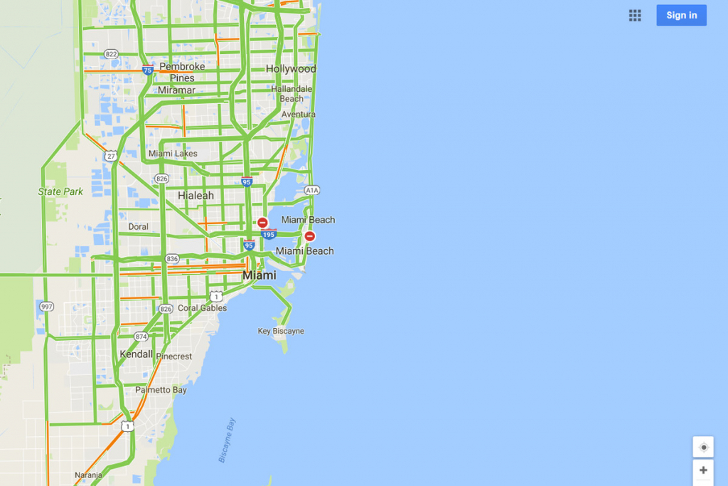 Google Maps Will Mark Closed Roads Live As Hurricane Irma Hits - Google Maps Miami Florida
