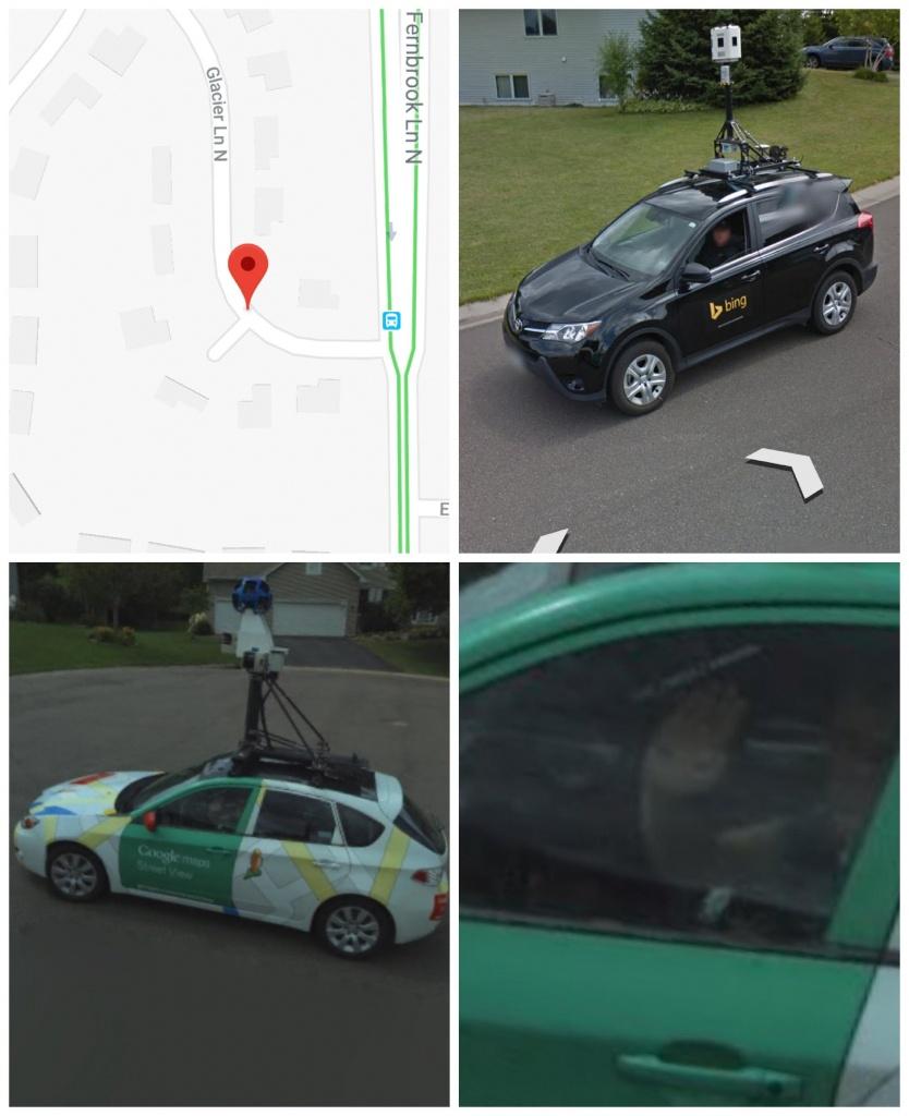Google Street Maps Waving To Bing : Funny - Bing Maps Florida