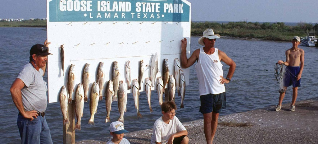 Goose Island State Park — Texas Parks & Wildlife Department - Rockport Texas Fishing Map