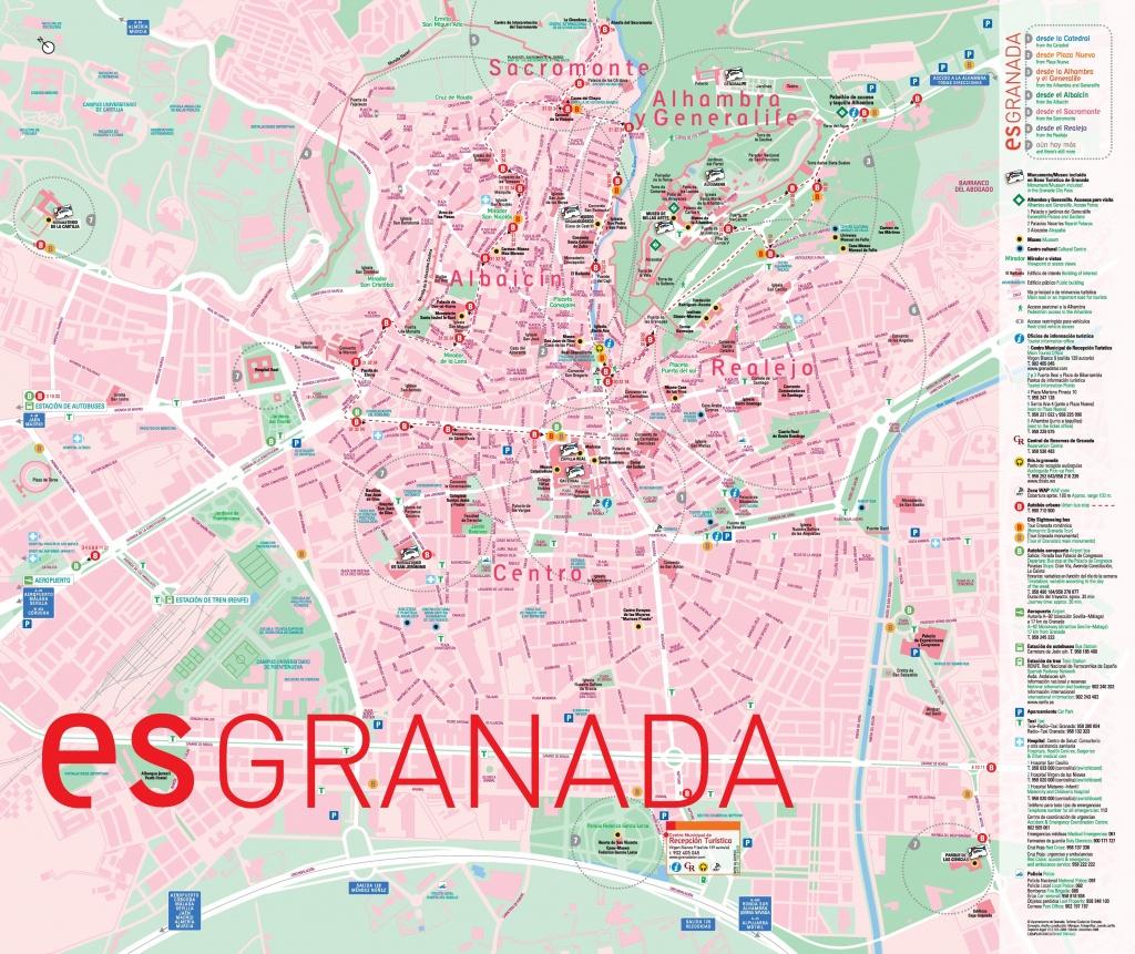 Granada Bus Map - Printable Street Map Of Granada Spain